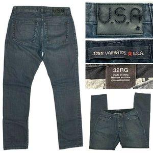 John Varvatos USA Slim Fit Button Fly Black Jeans